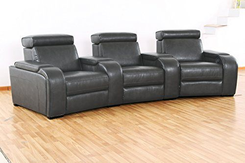 Includes one armless power reclining chair, right side facing power reclining chair and Left side facing reclining power chair. Two storage console wedges. Push button power recliner. Sinuous seat spring construction. Upholstery grade Deluxe foam. Warranty: six months. Made from wood. Assembly... more details available at https://furniture.bestselleroutlets.com/game-recreation-room-furniture/tv-media-furniture/home-theater-seating/product-review-for-3-pc-leather-air-3-seat-po