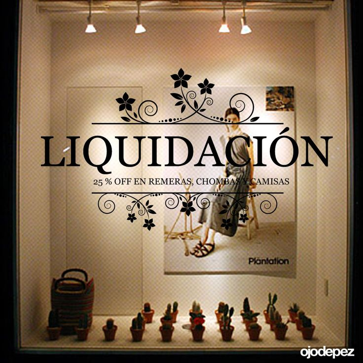 Vinilo Liquidación 001: Vinilos decorativos Liquidación Vinilos adhesivos vidrieras escaparates show window Window Display Wall Art Stickers wall stickers