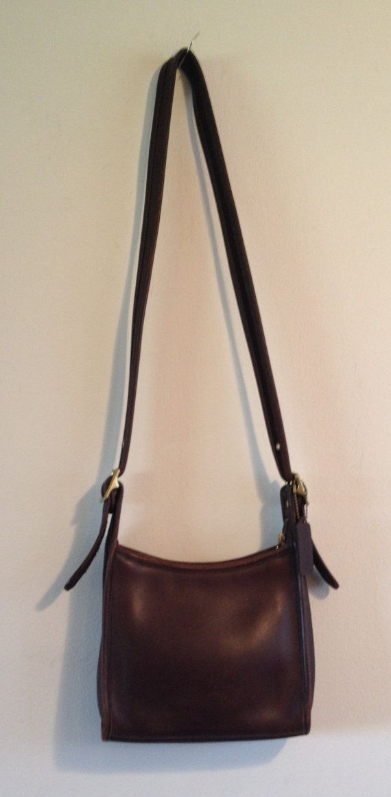 Vintage Coach Shoulder Bag Purse Chocolate Brown Leather by Tehana, $49.99