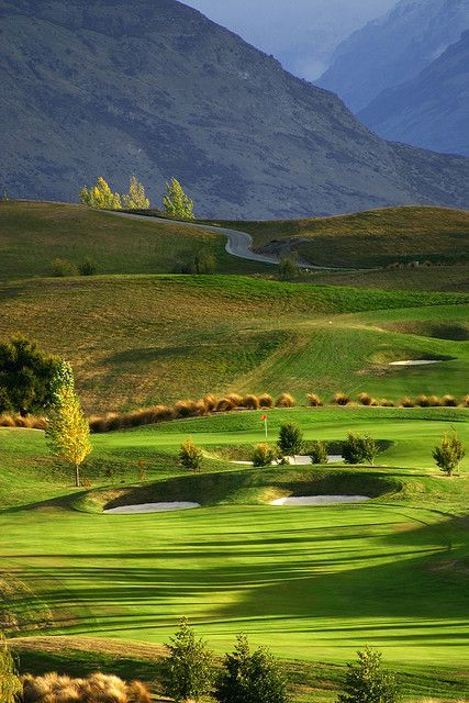 The Hills Golf Course near Arrowtown, home of the NZ Open. #GolfCourseOfTheDay I Rock Bottom Golf #rockbottomgolf