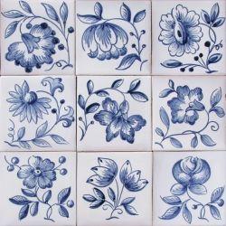 3711 Portuguese artistic loose designs garden clay tiles azulejo ...