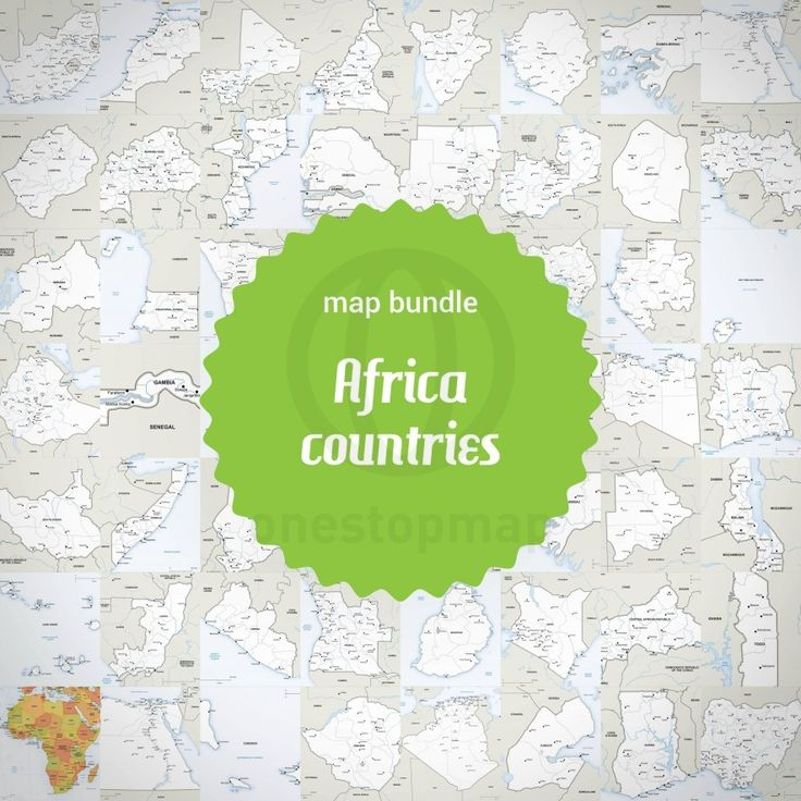 map of african countries pdf