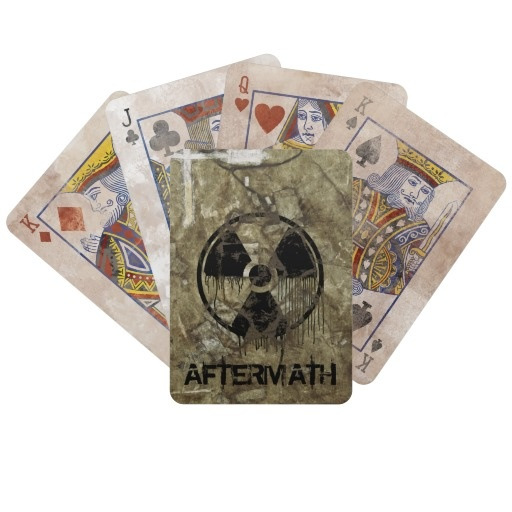 AFTERMATH BICYCLE CARD DECKS. A Post-apocalyptic, fully customizable design by BannedWare.