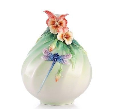 Dragonfly vase