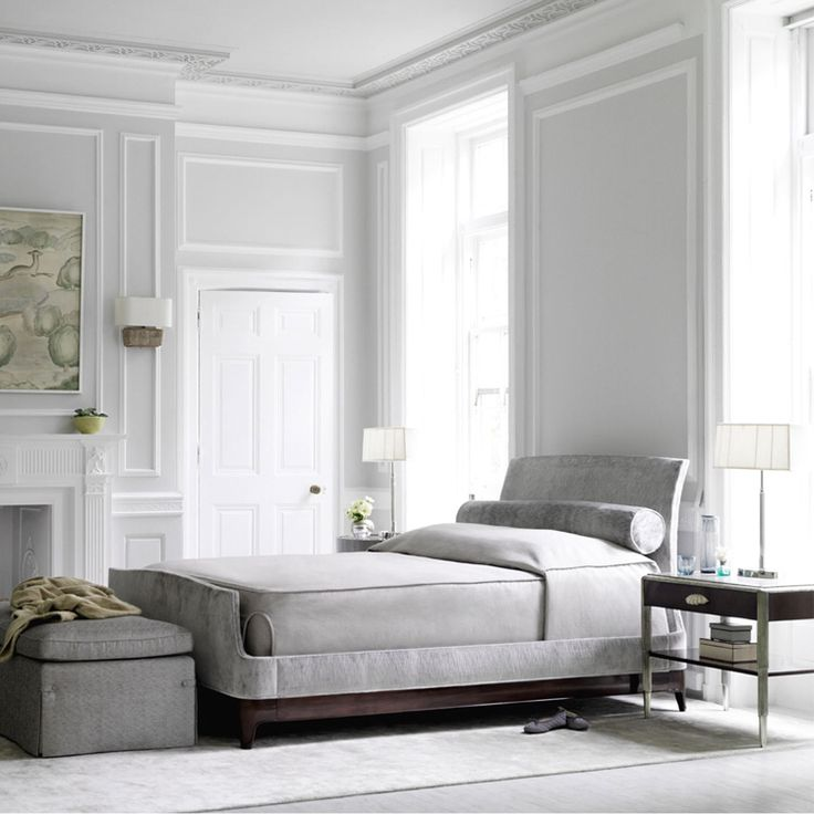 White and soft grey bedroom.