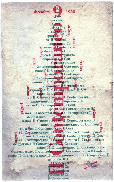 Cover by Albe Steiner (also member of the Board) for the magazine of Culture and Politics 'Il Contemporaneo', issue December 1958
