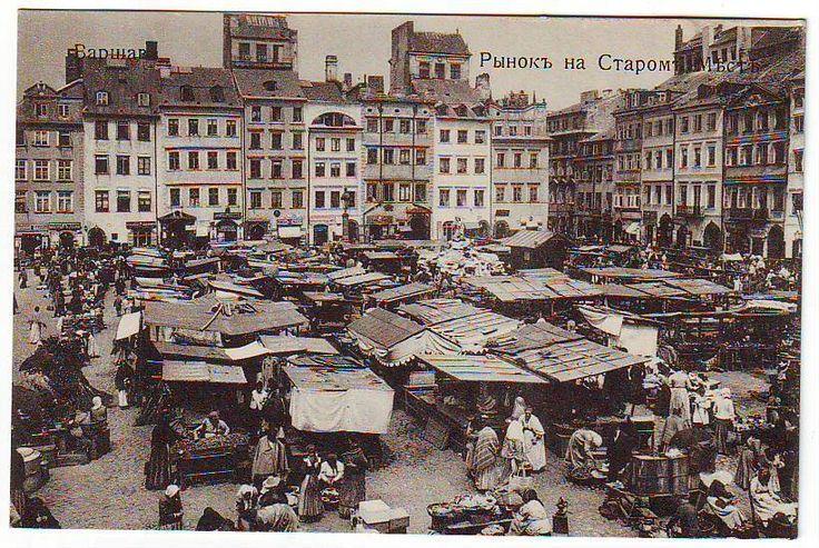 Warsaw Poland Old Jewish Market Russian 1914 Postcard   eBay