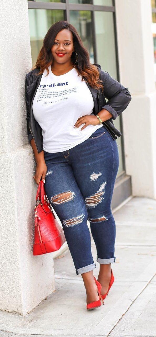 0df66446723 Plus Size Fashion for Women - Plus Size Fall Outfit Idea  Plussize  ootd