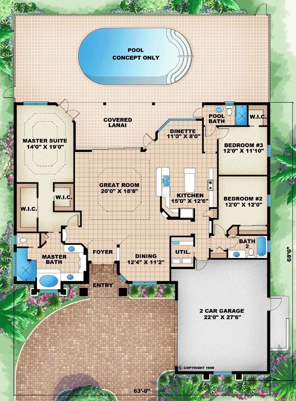 Florida Mediterranean House Plan 60505 147 best