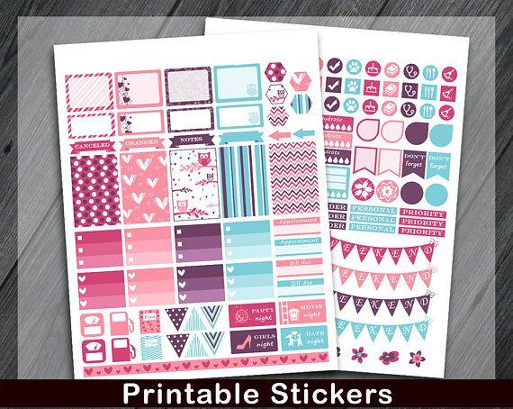 Printable Planner Stickers Planner Stickers School Planner
