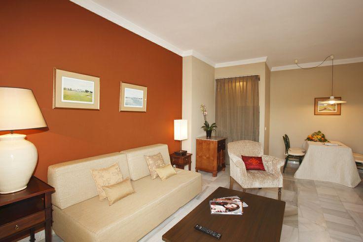 Suite's living room, Hotel PYR Marbella, Puerto Banus, Marbella, Andalucia, Spain, Golf