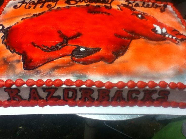 Razorback Cake hand drawn