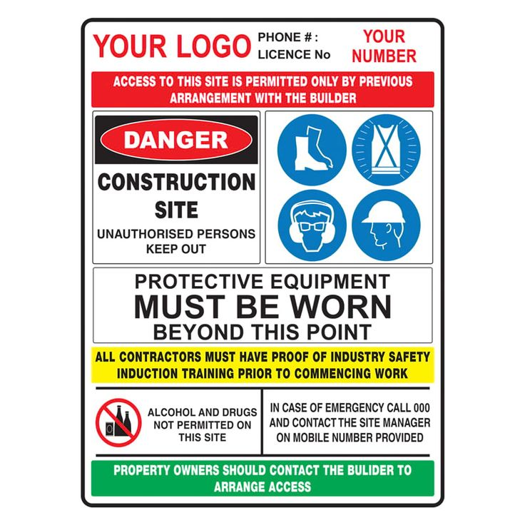 construction site sign safety Google Search Site sign
