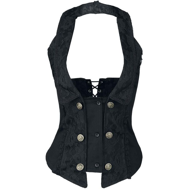 Melissa Waist Coat - Corsage by Burleska - Article Number: 276476 - from 43.99 € - EMP Merchandising ::: The Heavy Metal Mailorder ::: Merchandise Shirts and More