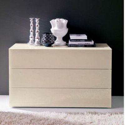 Low Price Bontempi Casa Enea 3 Drawer Dresser Size: 3-Drawer Chest of Drawers