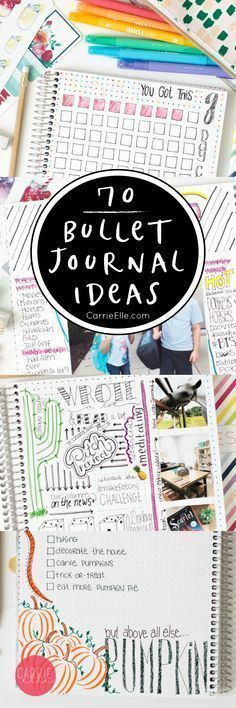 Creative Organization: 70 Bullet Journal Ideas ~ Bujo spreads, trackers and special pages. Planner inspiration #bujoinspire #bulletjournalideas
