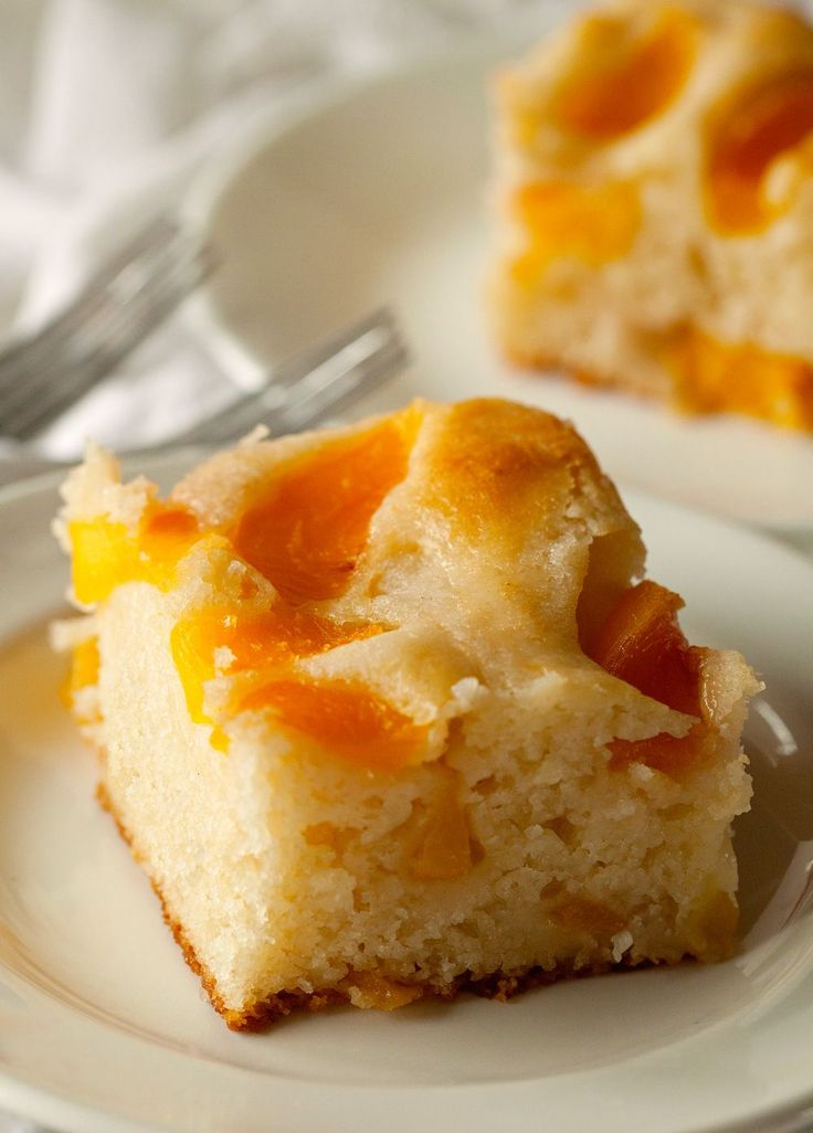 Frozen Peaches And Cake Mix