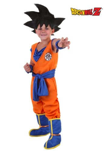 Trying to raise a Super Saiyan? You'd better not even think about it without this Toddler Goku Costume, licensed from the Dragon Ball Z anime.