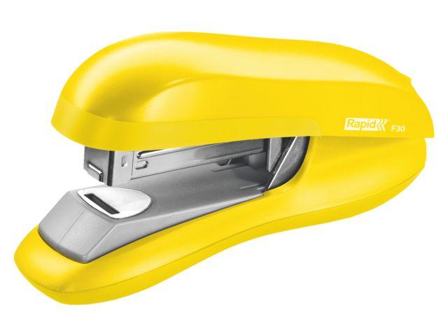 Nietmachine rapid f30 flatclinch halfstrip in geel via #DKVH