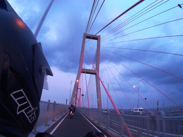 """Jembatan Suramadu"", the famous bridge that connect Surabaya and Madura."