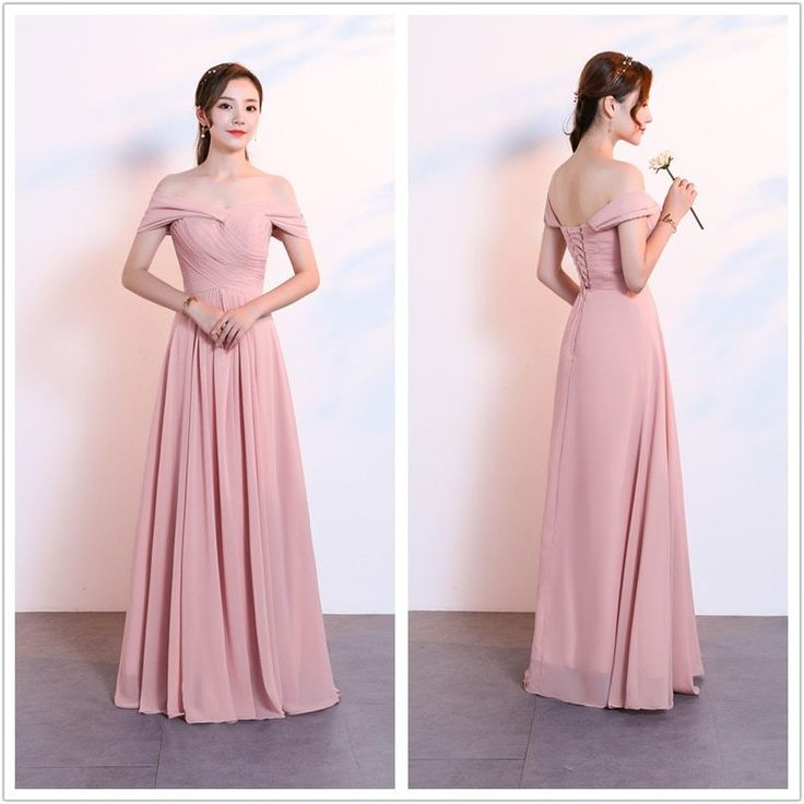Beauty-Emily Chiffon Dark Pink Bridesmaid Dresses V-neck Lace A-line Wedding Party Gown Formal Dress Robe De Soiree