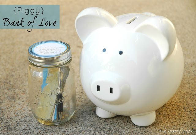 (I like this as a failry inexpensive idea for a toddler child, or older){Piggy} Bank of Love ~ A Piggy Bank To Treasure