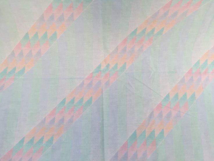 Vintage Southwestern Santa Fe Pattern Twin Flat Sheet - Pastel Green with Geometric SW Design by ElkHugsVintage on Etsy