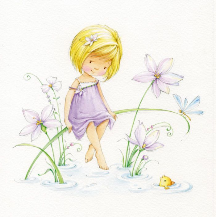 girl&small-fish.jpg | Marina Fedotova | Representing leading artists who produce children's and decorative work to commission or license. | Advocate-Art