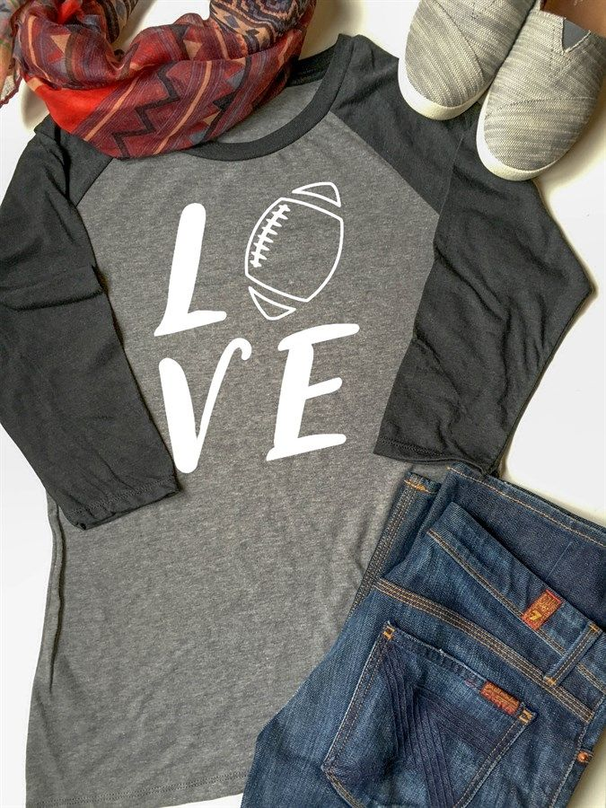 Football Raglan Tees | XS-2XL