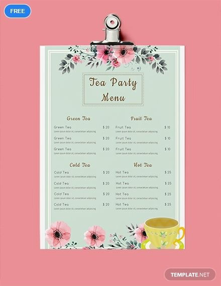 afternoon tea menu template.html