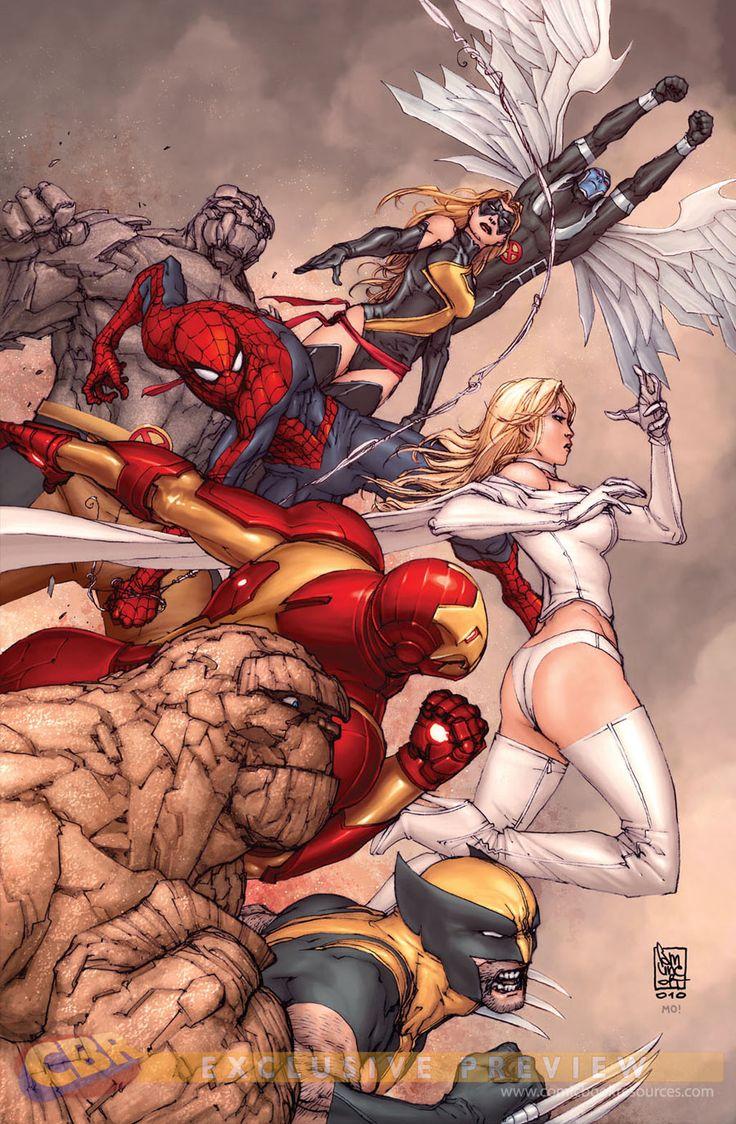 Avengers & X-Men by Giuseppe Camuncoli & Morry Hollowell