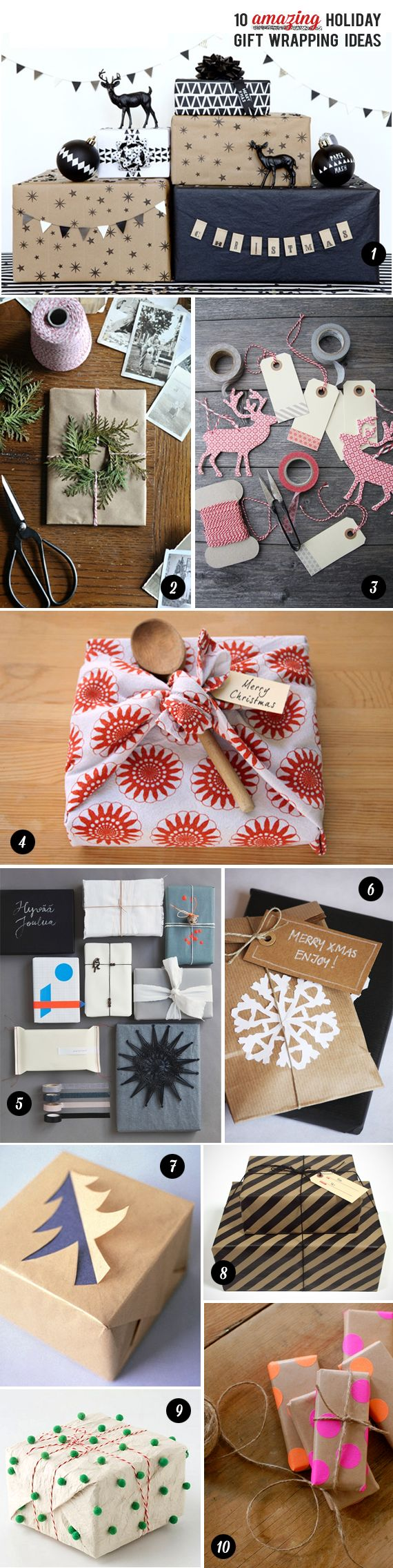 10 Amazing Holiday Gift Wrapping Ideas