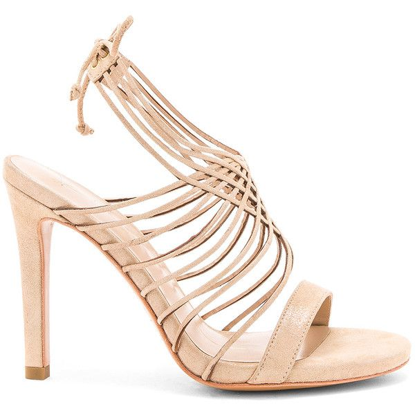 Lola Cruz Strappy Heel ($140) ❤ liked on Polyvore featuring shoes, pumps, heels, glitter high heel pumps, high heel shoes, ankle strap pumps, high heel pumps and glitter heel pumps