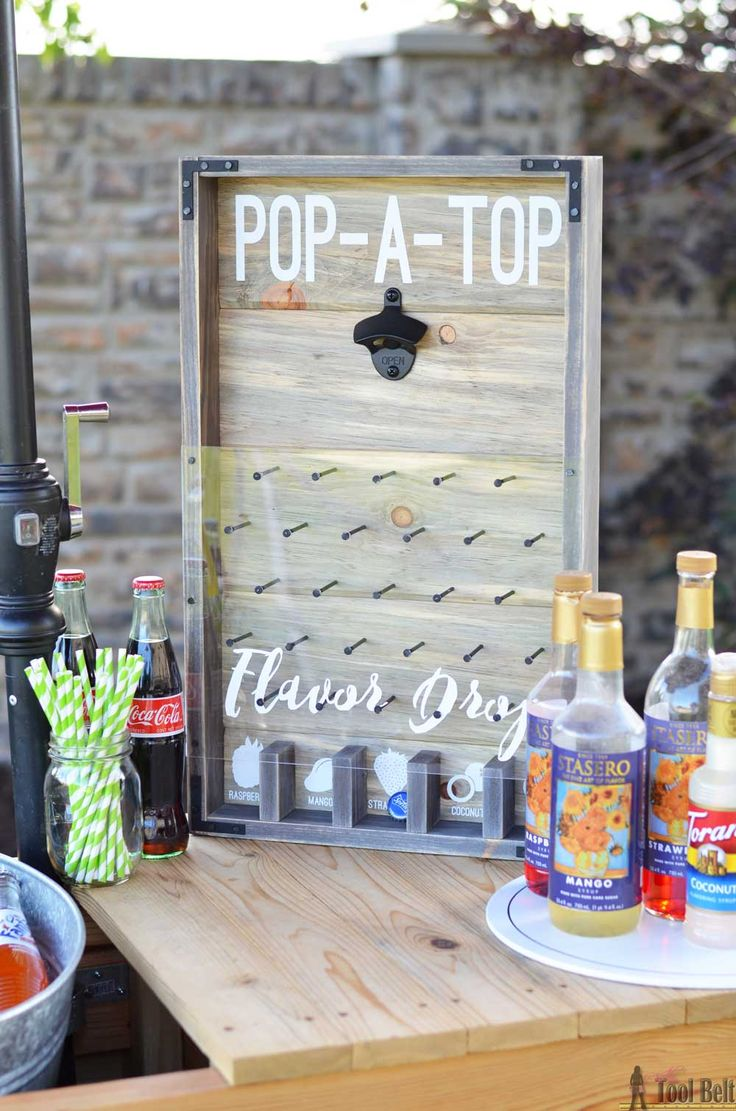 DIY Woodworking Ideas A fun and yummy addition to any summer time party, Pop-A-Top Flavor Drop bottle ...