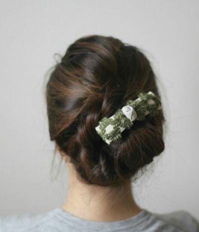  FLEURI(フルリ) ヴィンテージ リボン バレッタ ヘアアクセサリー vintage barrette accessory