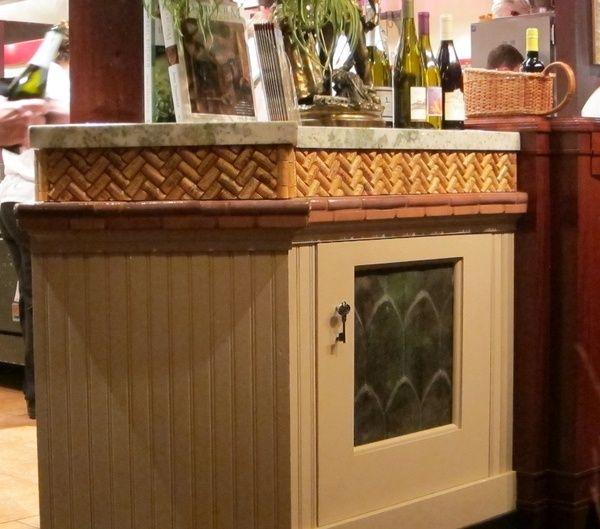 Wine cork backsplash pattern for wine cork backsplash for Kitchen designs cork