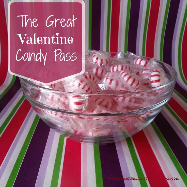 In need of a quick Valentine's Day icebreaker? The Great Valentine Candy Pass Supplies: 2-4 wrapped, hard candies (such as mints) per person; bag(s) or bowl(s) for each group to contain candies; printed list of questions Participants needed: Group of at least 6; multiple groups seated at separate tables or in a circle will also work well. Directions: Have group (or … … Continue reading →