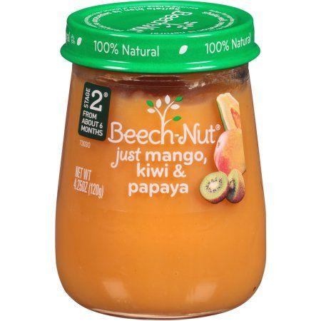 Beech-Nut Just Mango, Kiwi & Papaya Stage 3 Baby Food, 4 ...