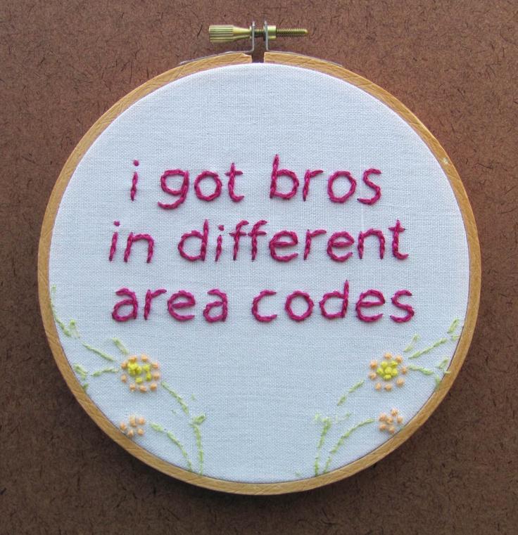 Embroidered Rap Lyrics: Area Codes By Ludacris