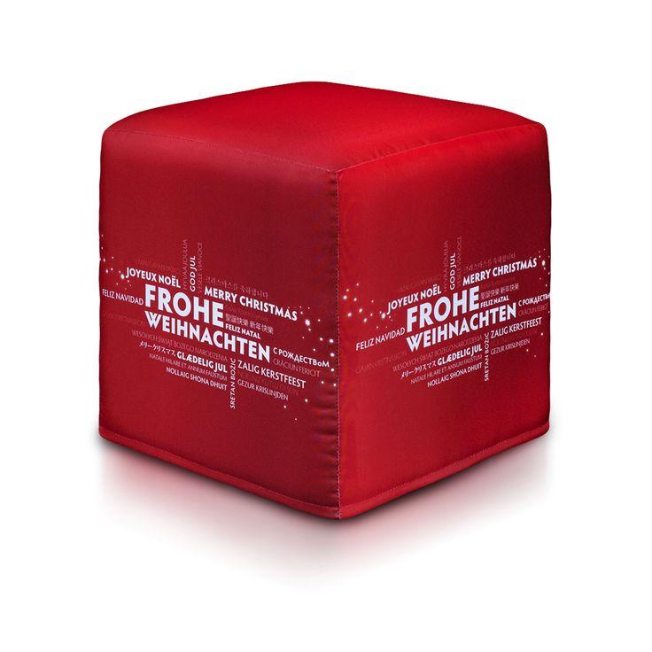 Z okazji zbliżających się świąt - Kostka Modern w promocyjnej cenie 130 złotych oraz w nowoczesnym, świątecznym wariancie!  #święta #mikołaj #kostkamodern #pufakostka #prezentnaświęta #bożenarodzenie #mikołajki #świętymikołaj