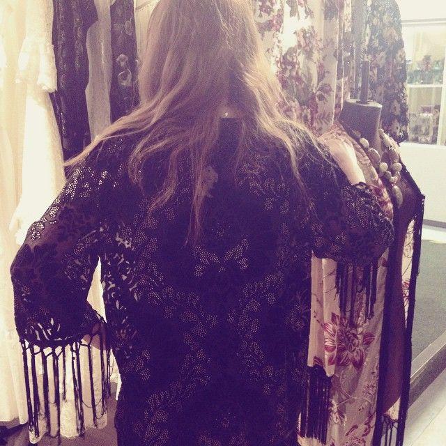 Black velvet kimono #boho #vintage £65 leonoraboutique.etsy.com #gypsy #wedding