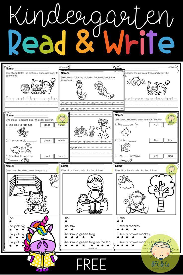 Free Kindergarten Read And Write Kindergarten Reading Kindergarten Reading Flue Free Kindergarten Reading Kindergarten Reading Reading Fluency Kindergarten [ 1103 x 736 Pixel ]