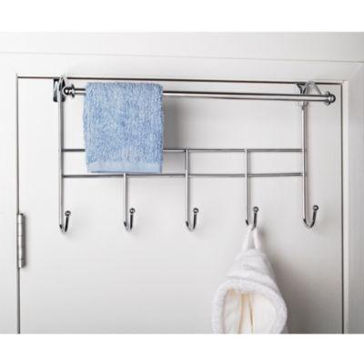 Buy Over-the-Door Towel Rack with Hooks from Bed Bath & Beyond