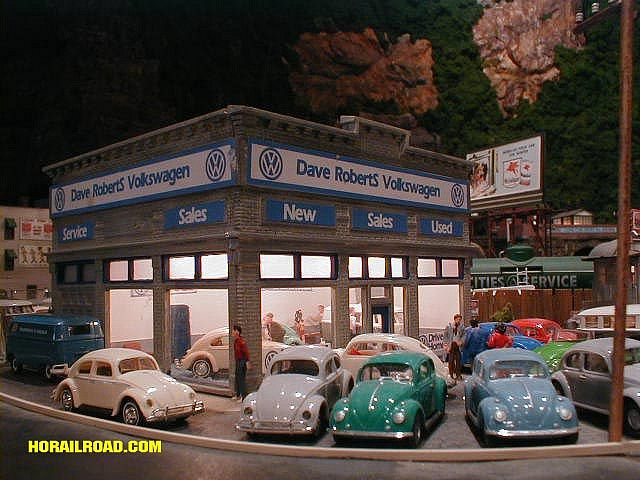 HO Scale Model VW Dealership by jofat.com, via Flickr