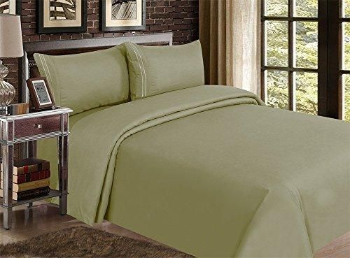 Red Nomad Luxury Duvet Cover & Sham Set 2 Piece Twin/Twin XL Olive Green