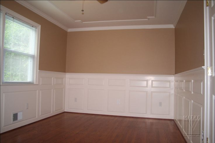 13 best basement wainscoting images on pinterest Painting paneling in basement