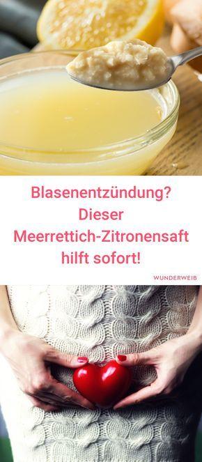 Hausmittel bei Blasenentzündung: Meerrettich-Zitronensaft hilft! Silvia Metzen