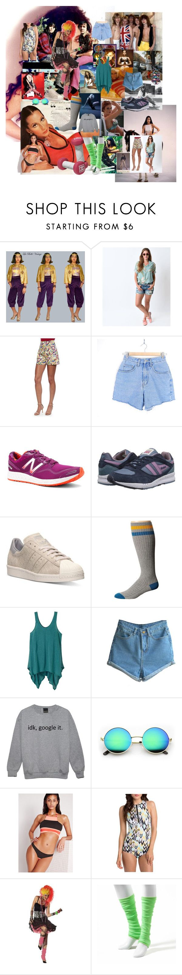 """Untitled #34"" by xaxa-szasza on Polyvore featuring Versace, Carolina Herrera, New Balance, Gola, adidas, Volcom, prAna, Missguided, Billabong and Esther Williams"