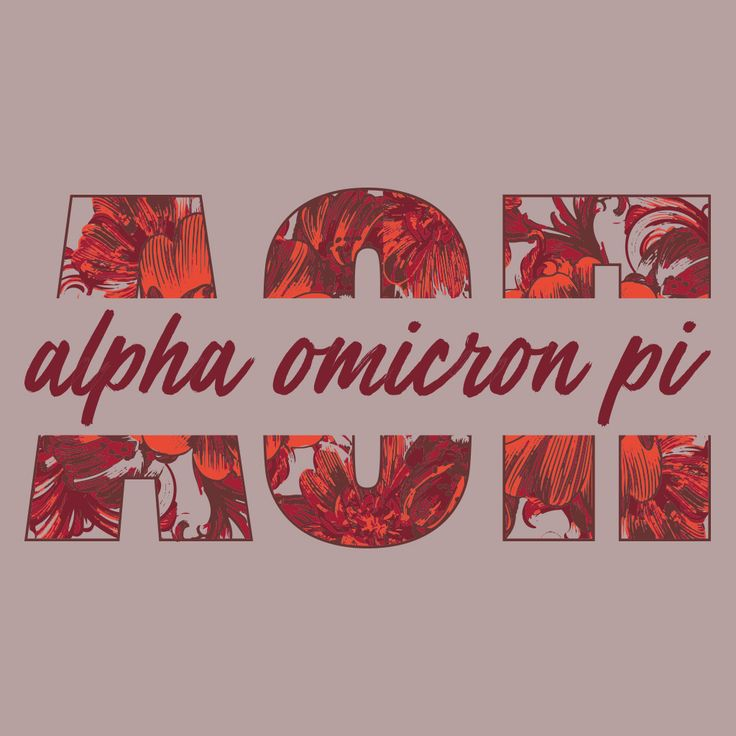 Alpha Omicron Pi Floral Design by College Hill Custom Threads sorority and fraternity greek apparel and products! Customize this design for your chapter today. Custom Greek Apparel, Sorority Tee Shirts, Sorority Shirt Designs, Sorority Shirt Ideas, Greek Life, Hand Drawn, Sorority Sisterhood, Recruitment Philanthropy, University, Rush