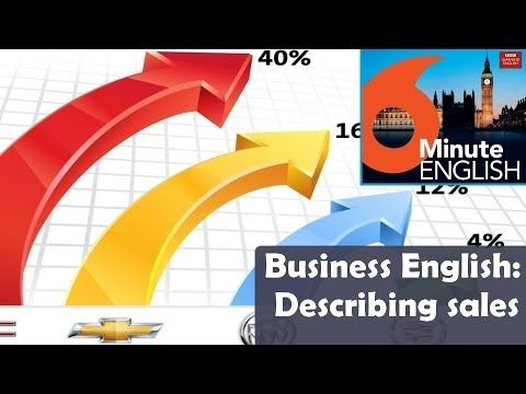 BBC 6 Minute Business English transcript video - Describing sales: The world of business depends on sales – and if you're talking about business sales, there are some key words and phrases that you really need to know!  Join Neil and Feifei as they explore the language of sales figures in this special business edition.